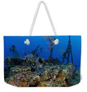A Diver Hangs On To A Piece Of Ww2 Weekender Tote Bag