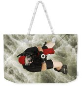 A Diver Is Hoisted Aboard An Sh-60f Weekender Tote Bag