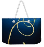 A Diver Swims Above A Whip Coral Weekender Tote Bag
