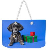 A Dog With Some Gifts Weekender Tote Bag