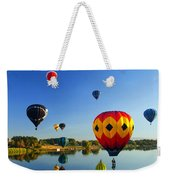 A Dozen  Reflected Weekender Tote Bag by Mike  Dawson
