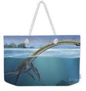A Elasmosaurus Platyurus Swims Freely Weekender Tote Bag