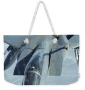 A F-15 Eagle Receives Fuel Weekender Tote Bag by Stocktrek Images