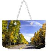 A Fall Drive  Weekender Tote Bag