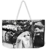 A Family And Their Push Cart Weekender Tote Bag