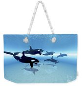 A Family Of Killer Whales Search Weekender Tote Bag
