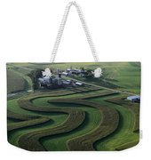A Farm With Curved And Twisting Fields Weekender Tote Bag