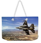 A Fighter Jet Breaks Right On A Final Weekender Tote Bag