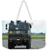 A Fire Engine Based At The Air Force Weekender Tote Bag