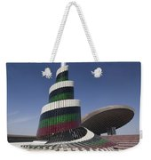 A Flagpole Covered In Plates Of Murano Weekender Tote Bag by Terry Moore