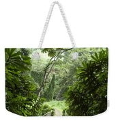A Flooded Path At Manoa Falls Weekender Tote Bag