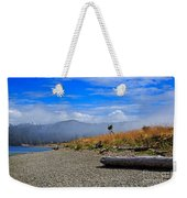 A Foggy Morning At Whiffin Spit Weekender Tote Bag