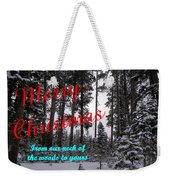 A Forest Christmas Weekender Tote Bag