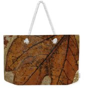 A Fossilized  Sassafras Leaf Weekender Tote Bag