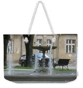 A Fountain In Silute Lithuania Weekender Tote Bag