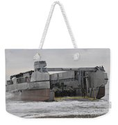 A French Landing Craft Comes Ashore Weekender Tote Bag