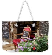 A French Restaurant Greeting Weekender Tote Bag