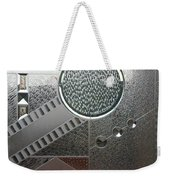 A Frosted Glass Window With An Interesting Pattern Weekender Tote Bag
