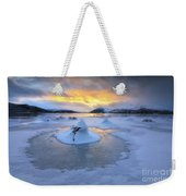 A Frozen Fjord That Is Part Weekender Tote Bag