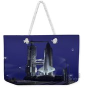 A Futuristic Space Shuttle Awaits Weekender Tote Bag by Walter Myers