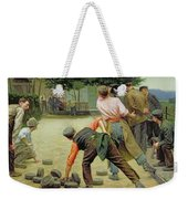 A Game Of Bourles In Flanders Weekender Tote Bag