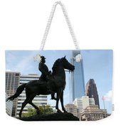 A General And His Horse In Philly Weekender Tote Bag