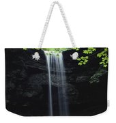 A Gentle Woodland Waterfall With Maple Weekender Tote Bag