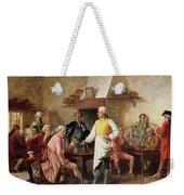 A Gentleman's Debate Weekender Tote Bag by Benjamin Eugene Fichel