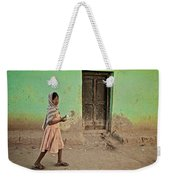 A Girl By A Door Weekender Tote Bag