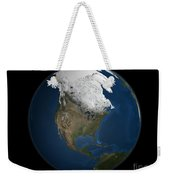 A Global View Over North America Weekender Tote Bag