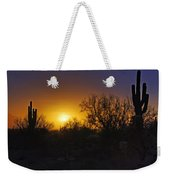 A Golden Saguaro Sunrise Weekender Tote Bag