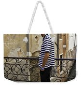A Gondolier In Venice Weekender Tote Bag