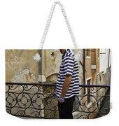 A Gondolier In Venice Weekender Tote Bag