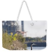 A Great Blue Heron Ardea Herodias Weekender Tote Bag