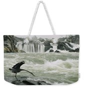 A Great Blue Heron Stretches Its Neck Weekender Tote Bag
