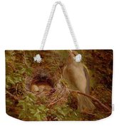 A Greenfinch At Its Nest Weekender Tote Bag