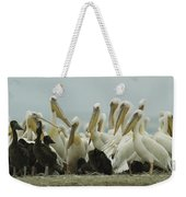 A Group Of Eastern White Pelicans Weekender Tote Bag