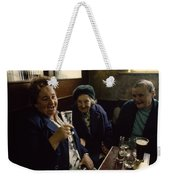 A Group Of Old Friends Gathers Weekender Tote Bag