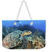 A Hawksbill Turtle Swims Weekender Tote Bag