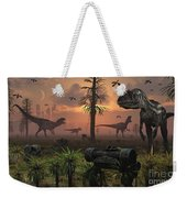 A Herd Of Allosaurus Dinosaur Cause Weekender Tote Bag