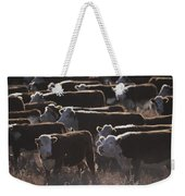 A Herd Of Cattle On The Wyoming Range Weekender Tote Bag