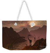 A Herd Of Omeisaurus Dinosaurs Weekender Tote Bag