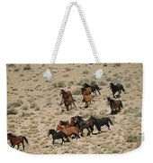 A Herd Of Wild Horses Gallops Weekender Tote Bag