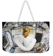 A Humanoid Robot In The Destiny Weekender Tote Bag by Stocktrek Images