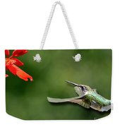 A Hummingbird With Dimension Weekender Tote Bag
