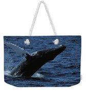 A Humpback Whale Breaching Weekender Tote Bag