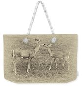 A Kiss For Mom Sepia Weekender Tote Bag