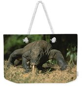 A Komodo Dragon Sensing The Air Weekender Tote Bag