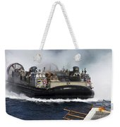 A Landing Craft Air Cushion Transits Weekender Tote Bag