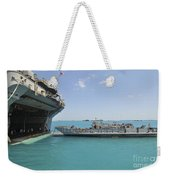 A Landing Craft Utility Approaches Weekender Tote Bag